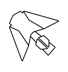 paper aircraft launch route fly outline vector image