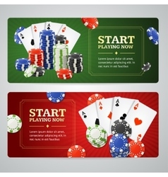 Poker Casino Banner Set vector image
