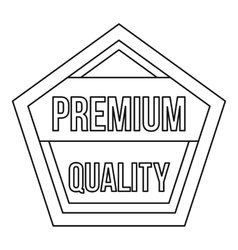 Premium quality pentagon label icon outline style vector