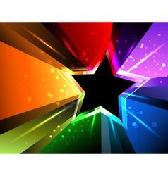 Rainbow Star vector image vector image
