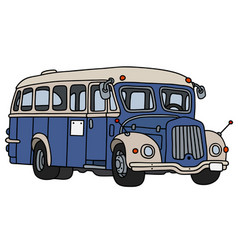 retro blue bus vector image vector image