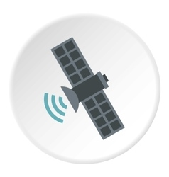Satellite icon flat style vector image