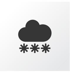 Snow icon symbol premium quality isolated snowy vector