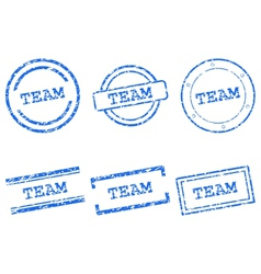 Team stamps vector image vector image