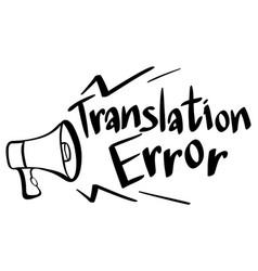 Word expression for translation error vector