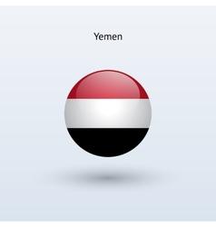 Yemen round flag vector