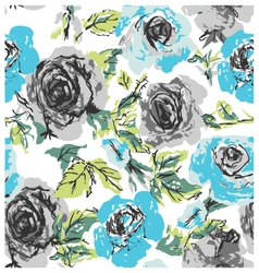 seamless rose floral pattern vector image