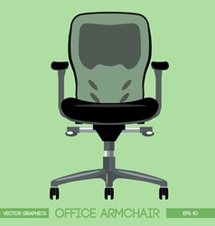 Black modern office armchair over green background vector
