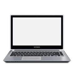 Modern laptop computer with blank screen vector