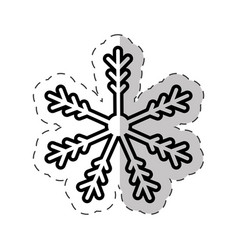 snowflakes winter cut line vector image