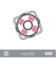 Lifebuoy outline icon summer marine vector