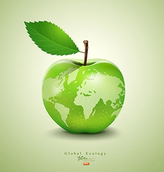 Green apple earth design vector