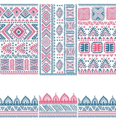 Tribal vintage ethnic banners vector
