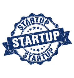 Startup stamp sign seal vector