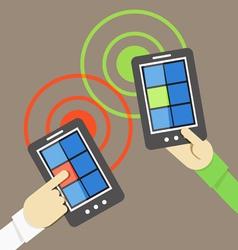 Mobile phone information transfer vector