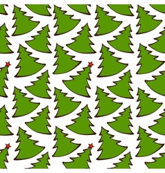 Seamless pattern with colorful christmas trees vector