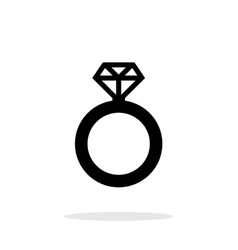 Diamond ring icon on white background vector image
