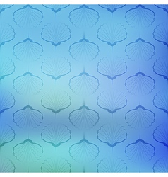 Blue sea geometric pattern on blurred background vector