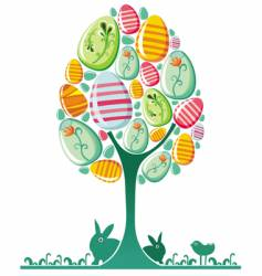 Easter egg tree vector