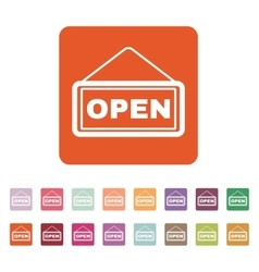 The open sign icon input and entrance symbol vector