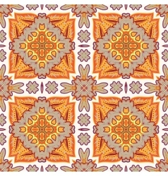 Gorgeous seamless patchwork pattern from moroccan vector
