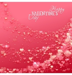 Happy valentine day background with hearts vector