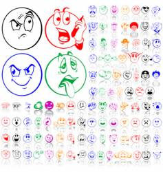 Set of smily faces vector