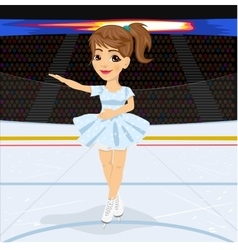 Figure skating competitions among fans vector