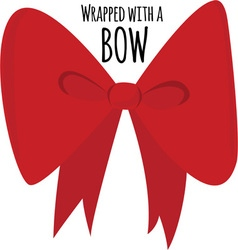 Wrapped with bow vector