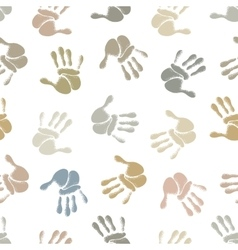 Human hands seamless pattern vector image