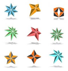 Design elements set 3d stars vector
