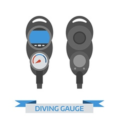 Scuba diving gauge icon vector