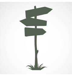 Wooden road sign vector
