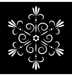 Abstract isolated snowflake or flower tattoo vector