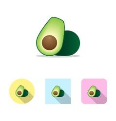 Avocado fruit icon vector