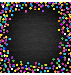 Black Wood Background With Confetti vector image vector image