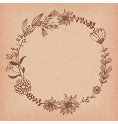 Blank flower frame vector