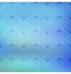 Blue sea geometric pattern on blurred background vector
