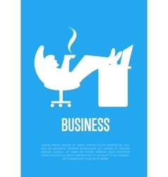 Business banner with businessman silhouette vector
