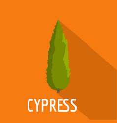 Cypress tree icon flat style vector