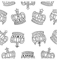 Doodle crown sketch hand draw vector