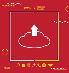 Download from the cloud vector