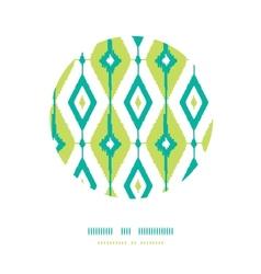 Emerald green ikat diamonds circle decor patterns vector