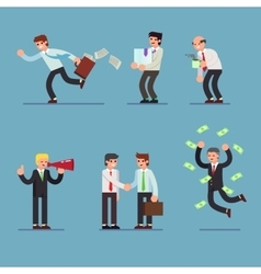 Flat Set of business people Businessman in vector image vector image
