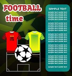 Football Soccer computer game vector image