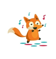 Fox On The Dancefloor vector image vector image