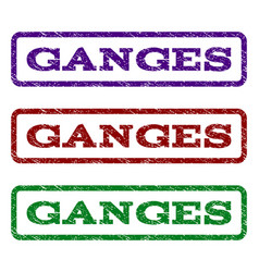 ganges watermark stamp vector image vector image