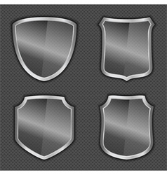 Glass Shields vector image vector image