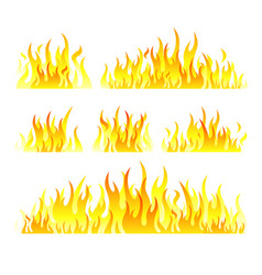 graphic flames isolated on vector image