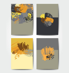 Grunge brush postcards vector